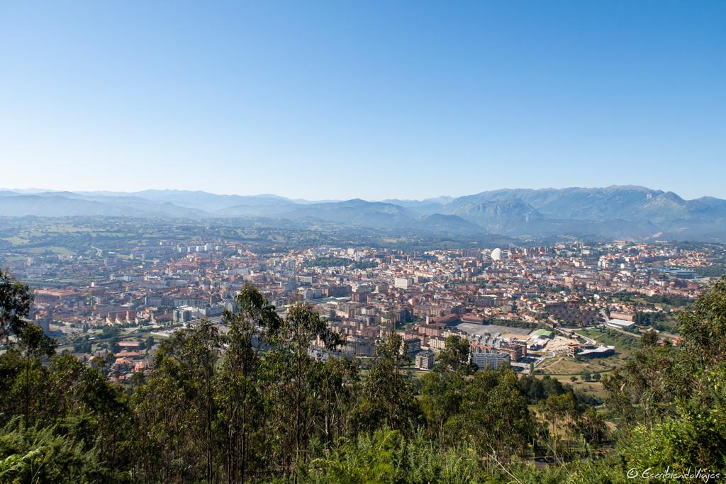 Vistas de Oviedo desde el Monte Naranco