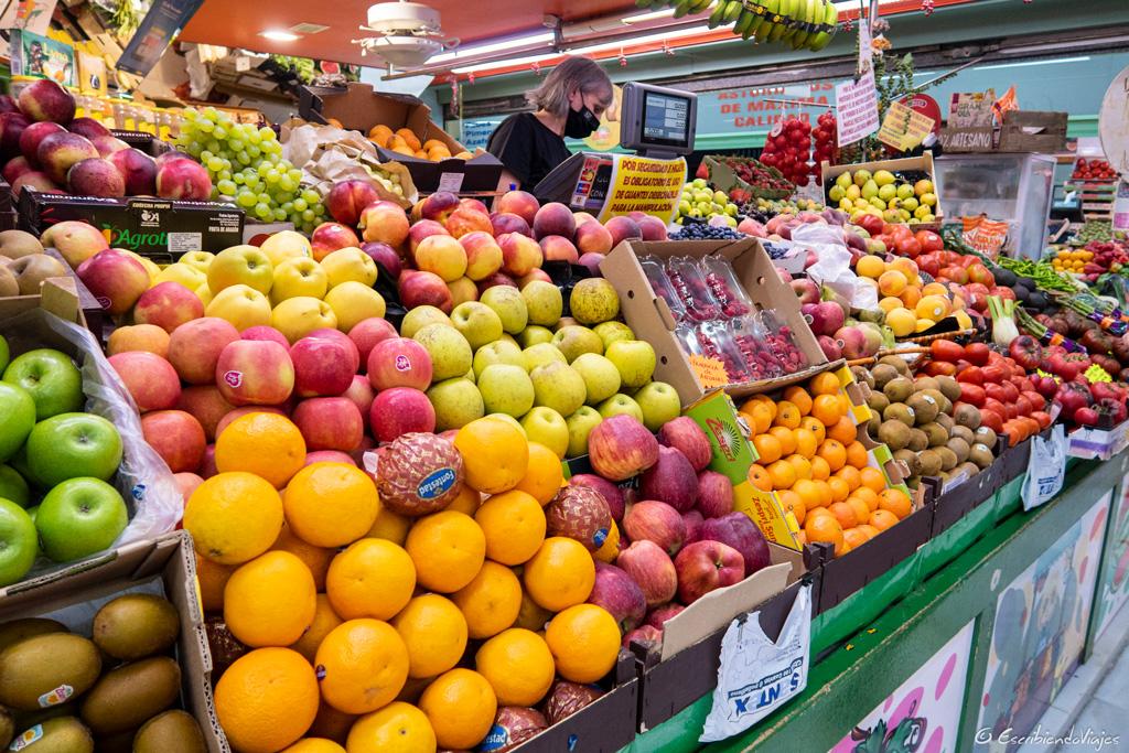 Fruta del mercado El Fontán (Oviedo)